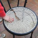 Stuhl auf der Terasse