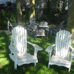 Enjoy food and drink in our outdoor sitting area...over a 1/4 acre to enjoy!