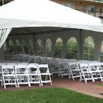 Tented Courtyard for outdoor ceremonies