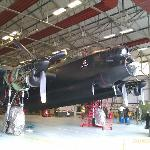 Lancaster being serviced