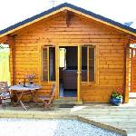 Your own log cabin with relaxing hot tub