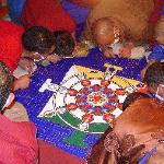 sand mandala making at Ganden monastery