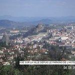 Vue du Puy en Velay depuis le parking de l'hôtel Ermitage