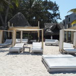beach seating area