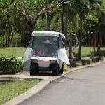 Every villa has a buggy and while it isn't fast, you cannot live without it.