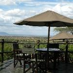 View from the terrace in Kirawira Tented Camp