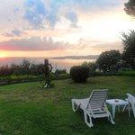 vista tramonto sul Lago