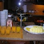 Our breakfast (hotel's kitchen)