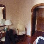 Inside the room, viewed from the window