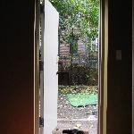 From the bedroom door