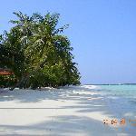 Пляж, где расположенны бунгало делюкс №180-190.