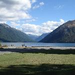 Lake Rotoiti is 5 mins walk