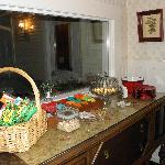 Snack area provided anytime for guests