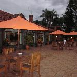 Patio off of the restaurant and bar