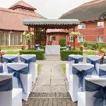 Get married outside in the Courtyard Gardens