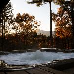 Huge private hot tub with view