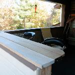 Private deck with nature bar w view of Overlook Mountain