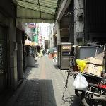 From main road, walk through this alley to reach hotel