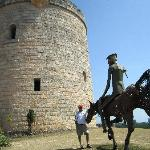 metal sculptur of Don Quixote