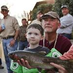 Kids love trout fishing!