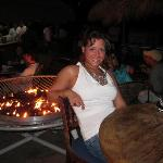 fire pit by tiki bar