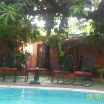 Afternoon View of Pool Area. Nice Shade