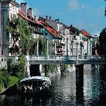 Ljubljana's riverside