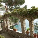 Panorama dal giardino villa