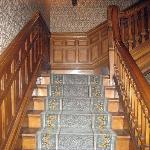 stairs, check out the woodwork