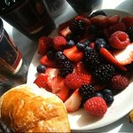 Fresh berries from hotel continental breakfast!