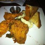 Fried Chicken, Mashed Potatoes, Collard Greens