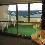 La terrasse commune chambre twin / séjour