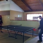 ping pong in the game room