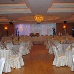 the function room set up for our meal