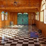Inside the yoga shala
