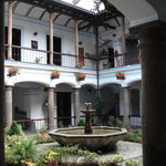View of home's central courtyard