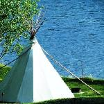 Teepee on the river