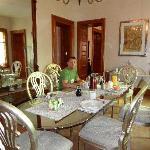 the breakfast area