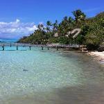 One beach area on Motu