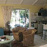 La pièce principale - le coin salon et cuisine