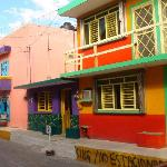 Colorful downtown Isla Mujeres