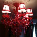 Pink Chandelier in Room 50