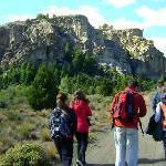 Caminando por la estepa camino a las cuevas