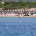 vista spiaggia dal mare