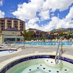 Pool & Hot Tubs at Water House on Main Street Breckenridge. Common ammenites with Main Street St