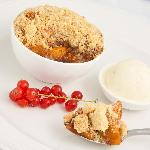 Our gorgeous apple & cinnamon crumble