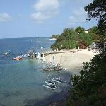 View of beach from main resort grounds