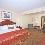Spacious King Guest Room offers a microwave, refrigerator and flat screen TV.
