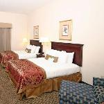 Spacious Double Guest Room offers a microwave, refrigerator, and flat screen TV.
