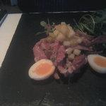 Ham hock and pineapple entree